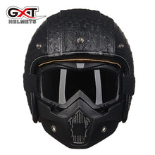 Load image into Gallery viewer, GXT casque capacete 3/4 open face retro motorcycle helmet de motocicleta vintage