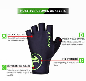 X-Tiger Cycling Gloves Outdoor Protect MTB Bike Gloves Washable Breathable