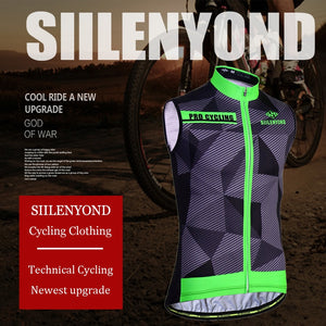 Siilenyond Sleeveless Cycling Bike Wear Clothes Vest