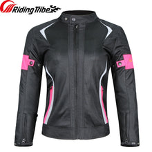 Load image into Gallery viewer, Riding Tribe Motorcycle Woman's Jacket Pants Suit Summer Waterproof Moto