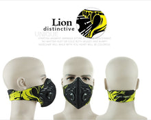Load image into Gallery viewer, Air Filter Sport Face Mask Training Bicycle Cycling Half Face Mask - Bike-Moto