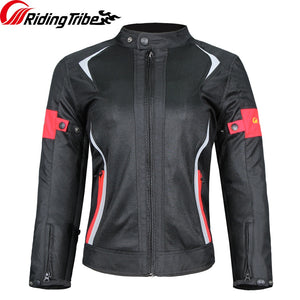 Riding Tribe Motorcycle Woman's Jacket Pants Suit Summer Waterproof Moto