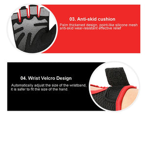 Loogdeel Cycling Anti-slip Anti-sweat Men Women Half Finger Gloves