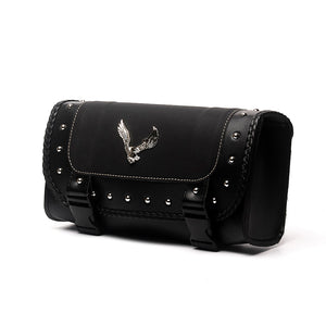 Triclicks Universal Eagle PU Leather Saddle Bags Motorcycle