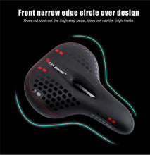 Load image into Gallery viewer, WEST BIKING Bicycle Saddle with Tail Light Thicken Widen