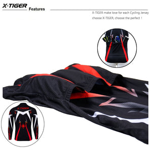 X-Tiger Cycling Jersey Winter Long Sleeve Bike Clothes