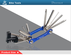 Deemount 11 in 1 Bicycle Tool Set Bike Repair & Service Kit Hex - Bike-Moto