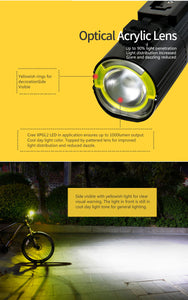 Gaciron V9S Bicycle Headlight USB Charge Internal Battery LED - Bike-Moto