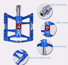 Load image into Gallery viewer, ROCKBROS 4 Bearings Bicycle Pedal Anti-slip Ultralight CNC MTB