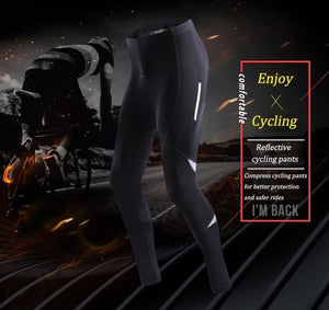 Men Cycling Pants MTB Bike Tights 3D Gel Pad Breathable Cycling Pants Long