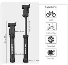 Load image into Gallery viewer, ROCKBROS Cycling Mini Portable Bidirectional  Bicycle Pump 80Psi