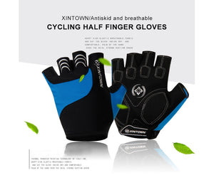 XINTOWN Cycling Anti-slip Anti-sweat Men Women Half Finger Gloves Breathable