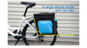 ROSWHEEL Bicycle Carrier Bag 30L Rear Rack Trunk Bike Luggage Back Seat