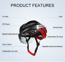 Load image into Gallery viewer, INBIKE Cycling Integrally-molded Helmet Bike MX-9 Glasses 3 Lens