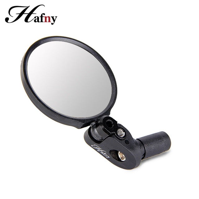 Handlebar End Bike Mirror Steel Lens Cycling Mirror Back Review Mirror - Bike-Moto