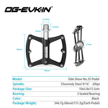 Load image into Gallery viewer, OG-EVKIN Road Bicycle Pedal Chromoly Steel pedales