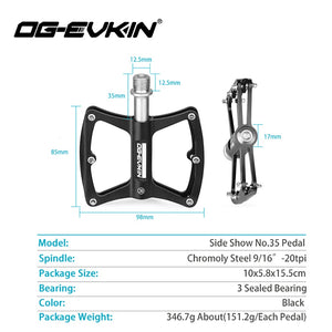 OG-EVKIN Road Bicycle Pedal Chromoly Steel pedales