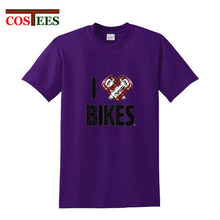 Load image into Gallery viewer, I love bikes T shirts - Bike-Moto