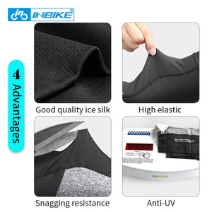 INBIKE Cycling Arm Sleeve Bicycle Anti-UV Breathable Lycra Elastic Cycling Armwarmers