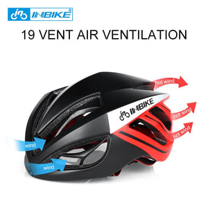 INBIKE Cycling Integrally-molded Helmet Bike MX-9 Glasses 3 Lens