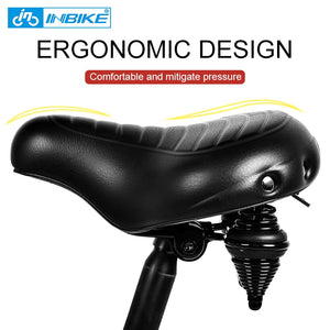 INBIKE Soft Wide Bicycle Saddle Comfortable Bike Seat Vintage Bicycle Leather