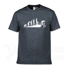 Load image into Gallery viewer, Mountain Biking Downhill Tshirt Funny Human evolution