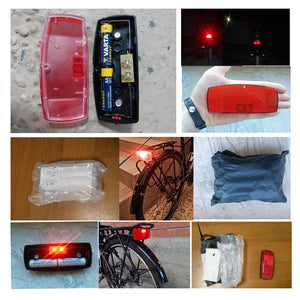 JS Leds Bike Rack Light Lamp Battery for MTB Cycling Safe Warning Bicycle Taillight