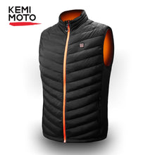 Load image into Gallery viewer, KEMIMOTO USB Heated Vest Men Motorcycle Winter Electrical Heated