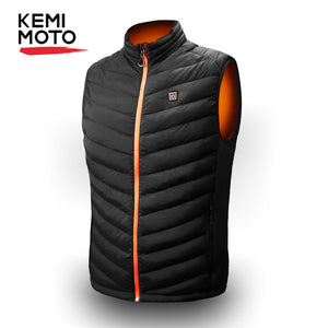 KEMIMOTO USB Heated Vest Men Motorcycle Winter Electrical Heated