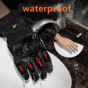 KEMiMOTO Motorcycle Winter Gloves Touch Screen Moto