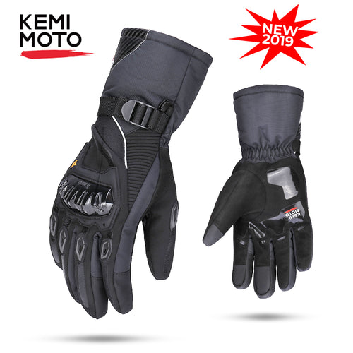 KEMiMOTO   Winter Motorcycle Gloves Protective Touch Screen
