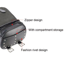 Load image into Gallery viewer, KEMiMOTO Saddle Luggage Bags PU Leather Travel Bag For Softail