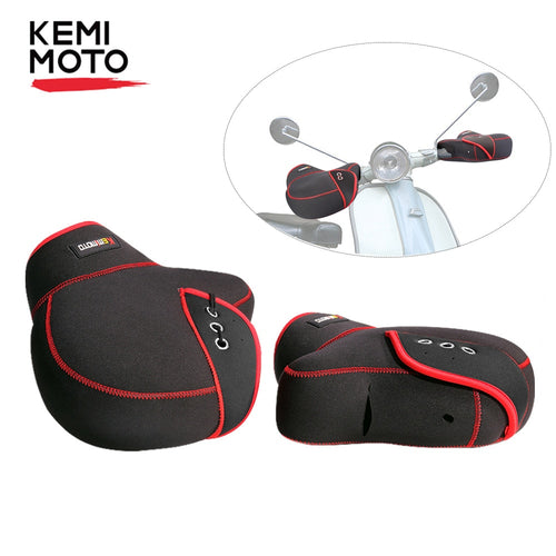 KEMiMOTO Scooter Hand Bar Winter Gloves Thickening Warmer