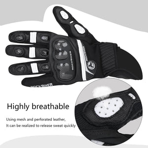 KEMiMOTO Touch Screen Motorcycle Gloves Leather   Full Finger Luvas