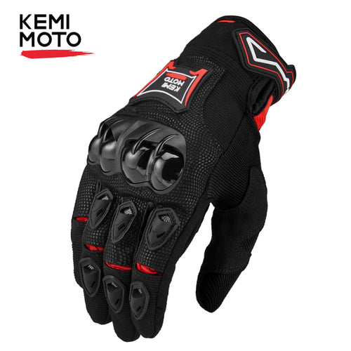 KEMiMOTO Touchscreen Leather  Gloves Breathable Full Finger
