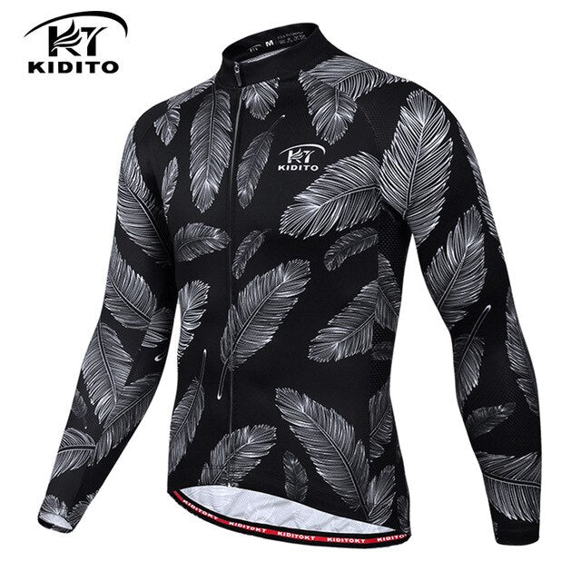 KIDITOKT 2019 Quick-Dry Cycling Jersey Breathable Long Sleeve