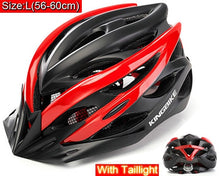 Load image into Gallery viewer, KINGBIKE EPS Windproof Lenses Cycling Helmet with 20 Air Vents