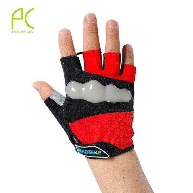LEADBIKE Bicycle Gloves Half Finger With Reflective Ultra-Breathable