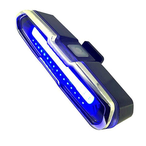 LED Bike Tail Light Red & Blue USB Rechargeable Waterproof Super Bright