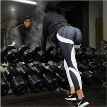 Load image into Gallery viewer, LI-FI Yoga Pants Honeycomb Carbon Leggings Women Fitness Wear Workout