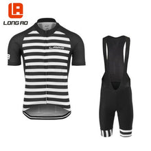 Load image into Gallery viewer, LONG AO 4 color stripes longao Man& Summer Short Sleeve Cycling Jerseys