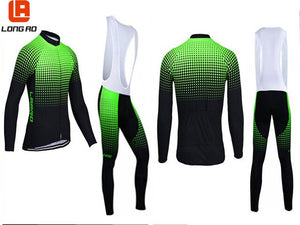 LONG AO  Classic Style Pro Team Long Sleeve Cycling Jersey