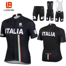 Load image into Gallery viewer, LONG AO Italian flag  cycling clothing cycling jersey summer short sleeve Cycling jerseys