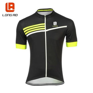 LONG AO Mens Ropa Ciclismo Cycling Jersey Top Bike Clothing Bicycle Wear Short Sleeve