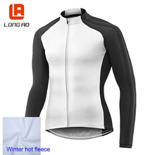 Load image into Gallery viewer, LONG AO Winter hot fleece Men's Cycling Jersey Long Sleeve Outdoor Sports