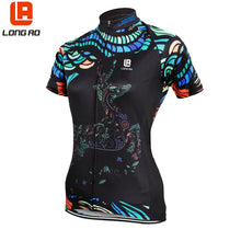 Load image into Gallery viewer, LONG AO Women Cycling Jersey Breathable Short Sleeve Jersey
