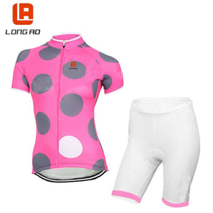 LONG AO  Womens Italy Cycling Jersey Set Ropa De Camisa Ciclismo classic