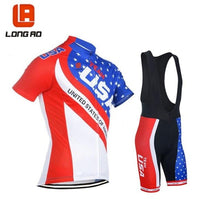 Load image into Gallery viewer, LONG AO jersey United States  cycling jersey USA Flag National team