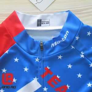 LONG AO jersey United States  cycling jersey USA Flag National team