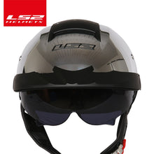 Load image into Gallery viewer, LS2 Global Store original LS2 OF590 motorcycle helmet with sunshield half face vintage